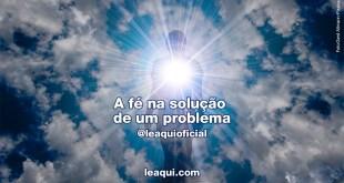 A fé na solução de um problema