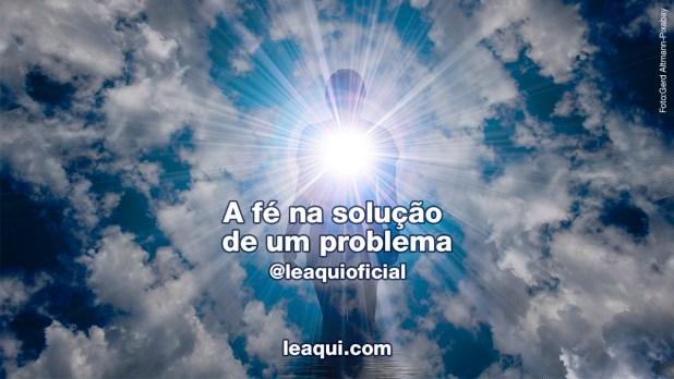 fé na solução de um problema