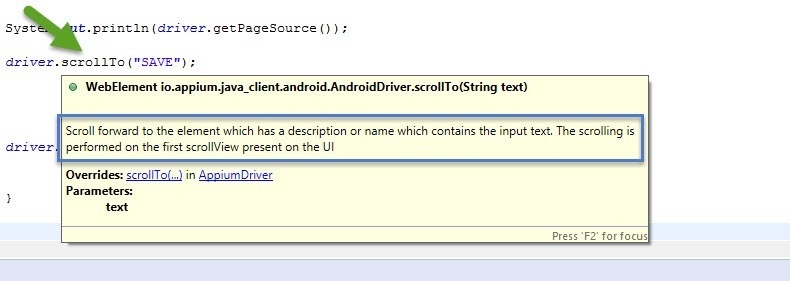 Smart way to Scroll in Appium in Android and IOS built in