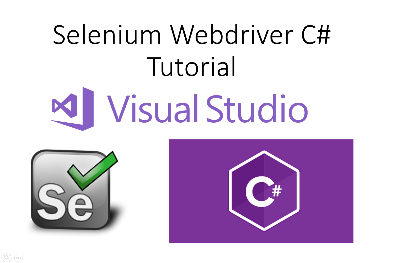 Selenium Webdriver C# Tutorial with Step by Step Process