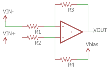 Biased Differential Op-Amp