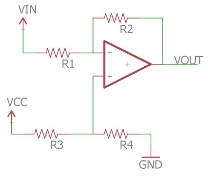 Biased Inverting Amplifier