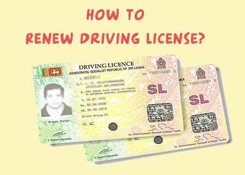 How to Renew Driving License - Education Resources lk