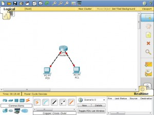 how to turn link up on cisco router packet tracer
