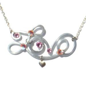 Love Necklace Silver Blush Mood Board