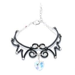 Angel Wing Heart Bracelet Midnight Moonlight