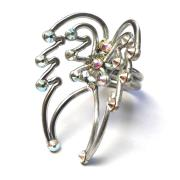 Angel Wings Ring Silver Starlight