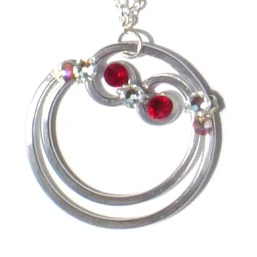Blood Moon Pendant Silver Ruby Main