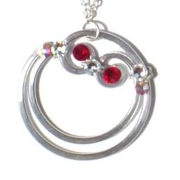 Blood Moon Pendant Silver Ruby Main