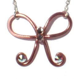 Bow Necklace Rose Gold Main