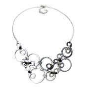 Bubbles Necklace Mixed - Silver, Charcoal, Midnight