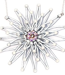 Fossilized Daisy Necklace Silver Moonlight Main