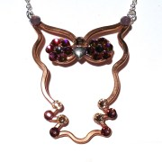 Baby Owl Necklace Bronze Main