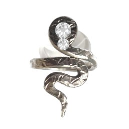 Pewter Snake Ring Adjustable