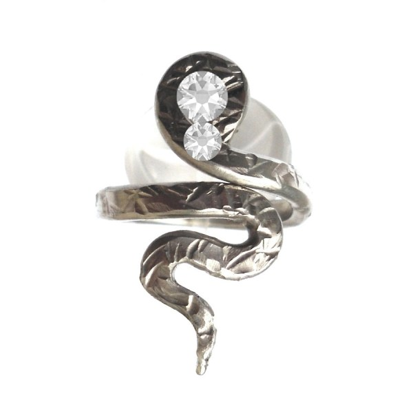 Pewter Snake Ring Adjustable