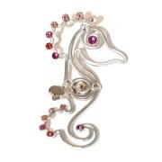 seahorse-hair-clip-silver-ombre-pink