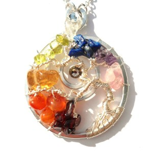 Tree of Life Full Bloom Pendant Silver Chakra Flow