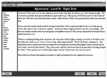 FIGURE 7.8Perfect Copy software improves writing abilities by highlighting grammar, punctuation, and language errors.