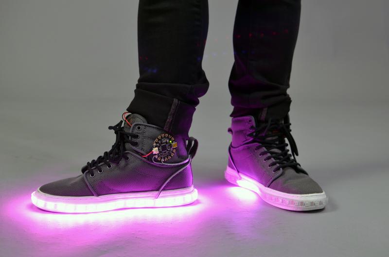 Attach NeoPixel LED Strip | Firewalker LED Sneakers | Adafruit Learning System