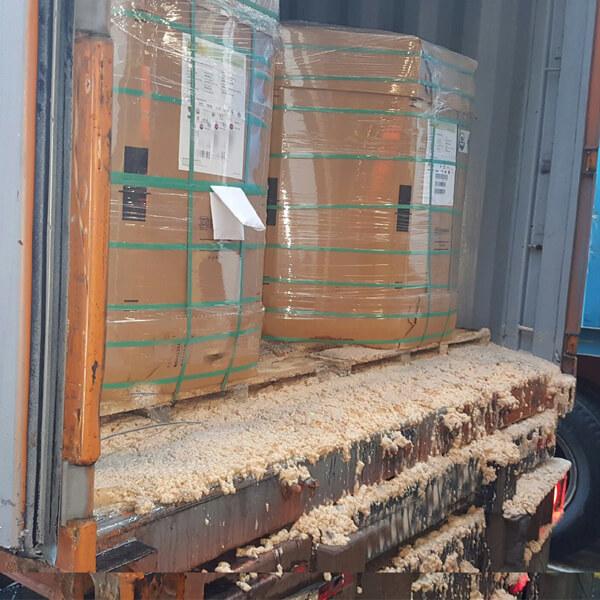 contaminated sea container