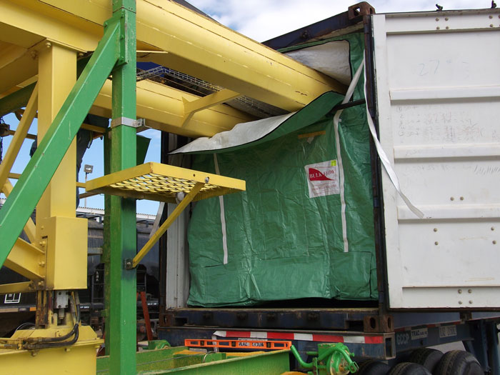 loading container liner