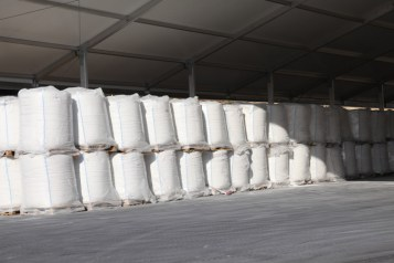 Storage of loaded bulk bags