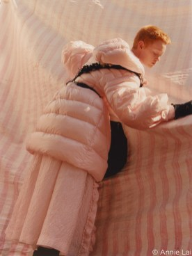 capture one RAW photo editor femininity blogpost Annie Laiwoman wearing pink moncler coat