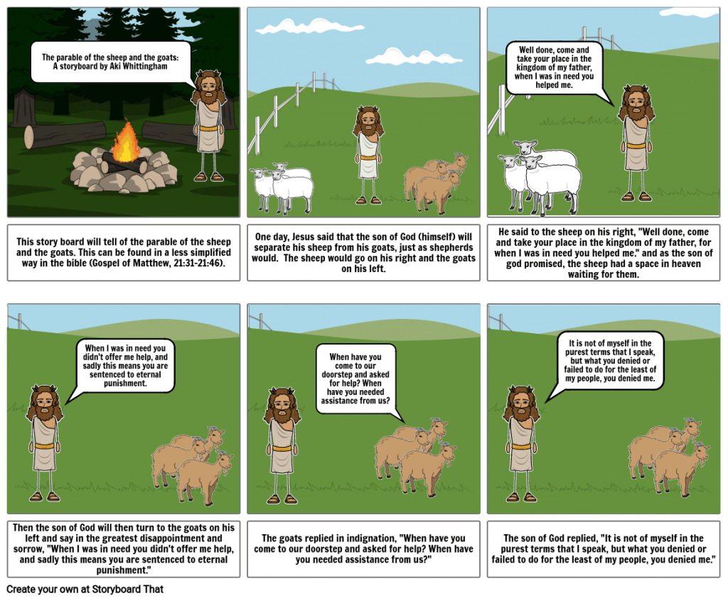 Story Master 1 The Parable Of The Sheep And The Goats
