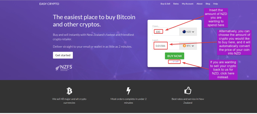 Walk through for main page of easycrypto