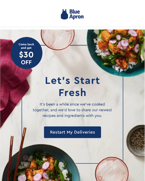 re-engagement email blue apron