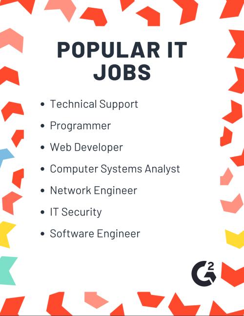 Popular Information Technology Jobs