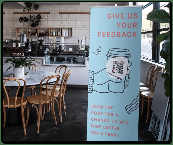 QR code customer feedback
