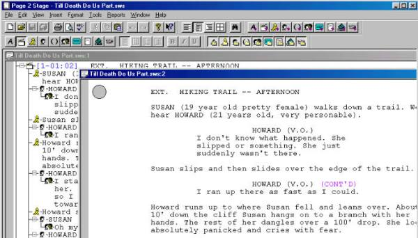 page2stage, a type of free screenwriting software