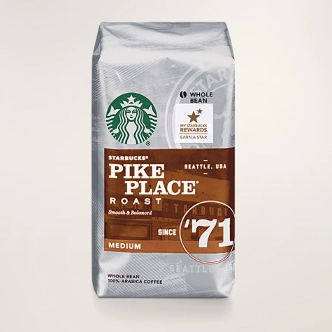 Example of starbucks coffee bag with (r) tm
