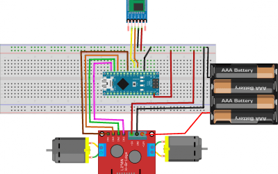 Using HC-05 bluetooth module to control dc motors with arduino