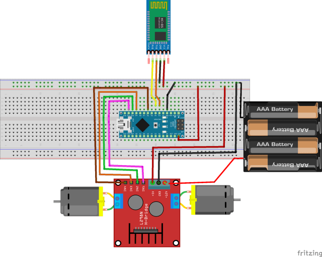 Using HC-05 bluetooth module to control dc motors - Invent Electronics