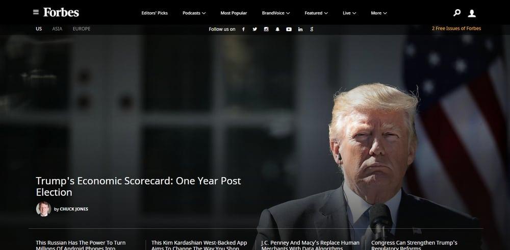 Forbes uses WordPress
