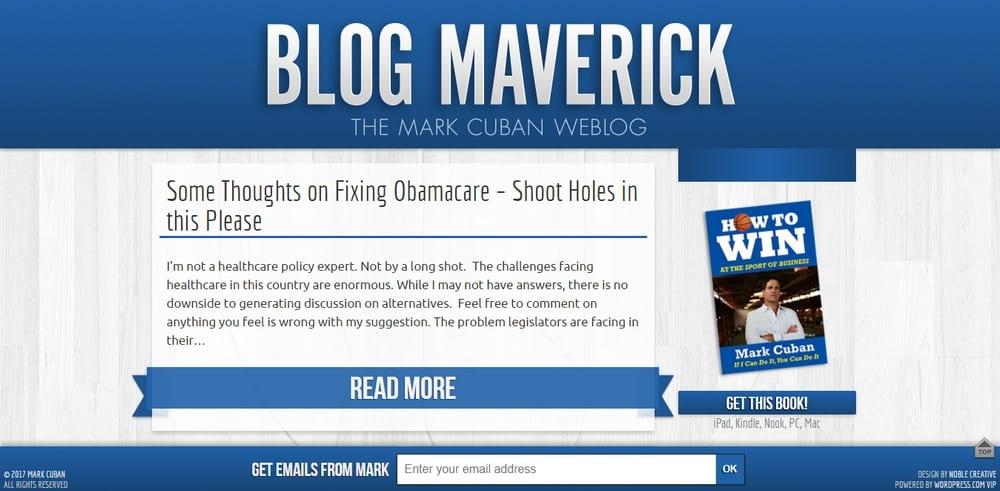 Blog Maverick uses WordPress