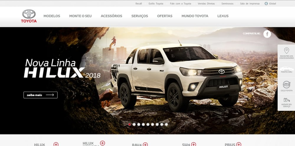 Toyota uses WordPress
