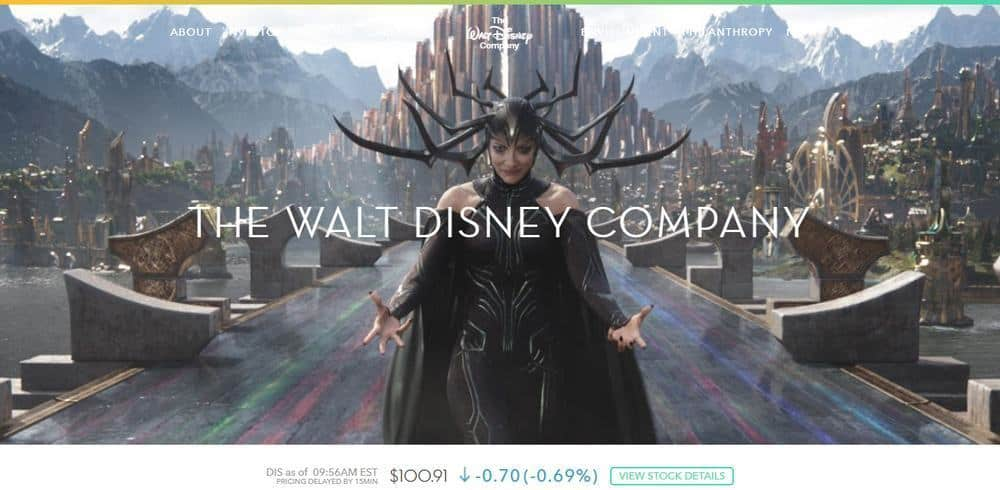 Disney's Website is Build with WordPress