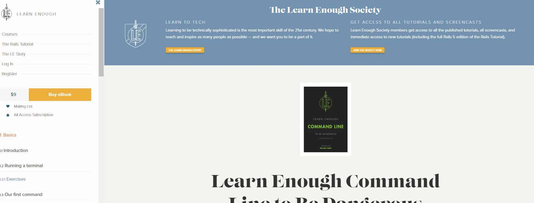 Learn Command Line with Learn Enough
