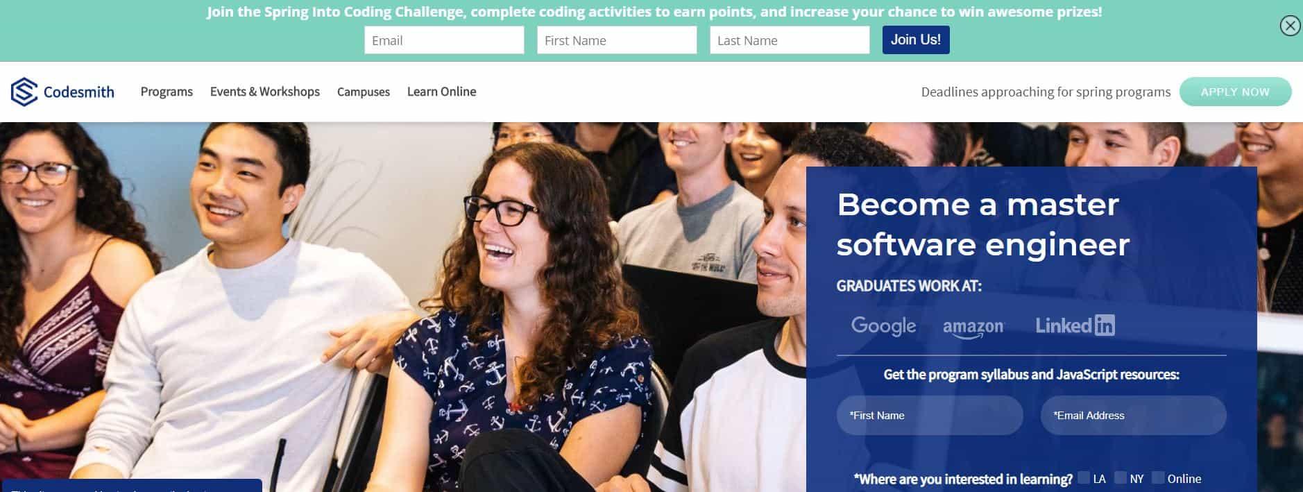 Codesmith's Coding Classes