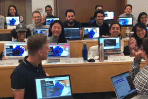 mba students learning to code