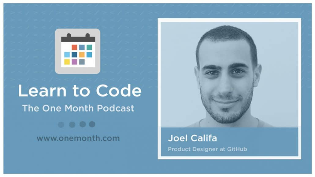 Joel Califa on the Learn to Code Podcast talking about Github, hiring, and web design best practices