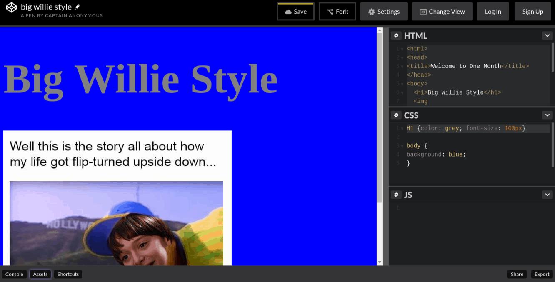 HTML-Codebeispiel