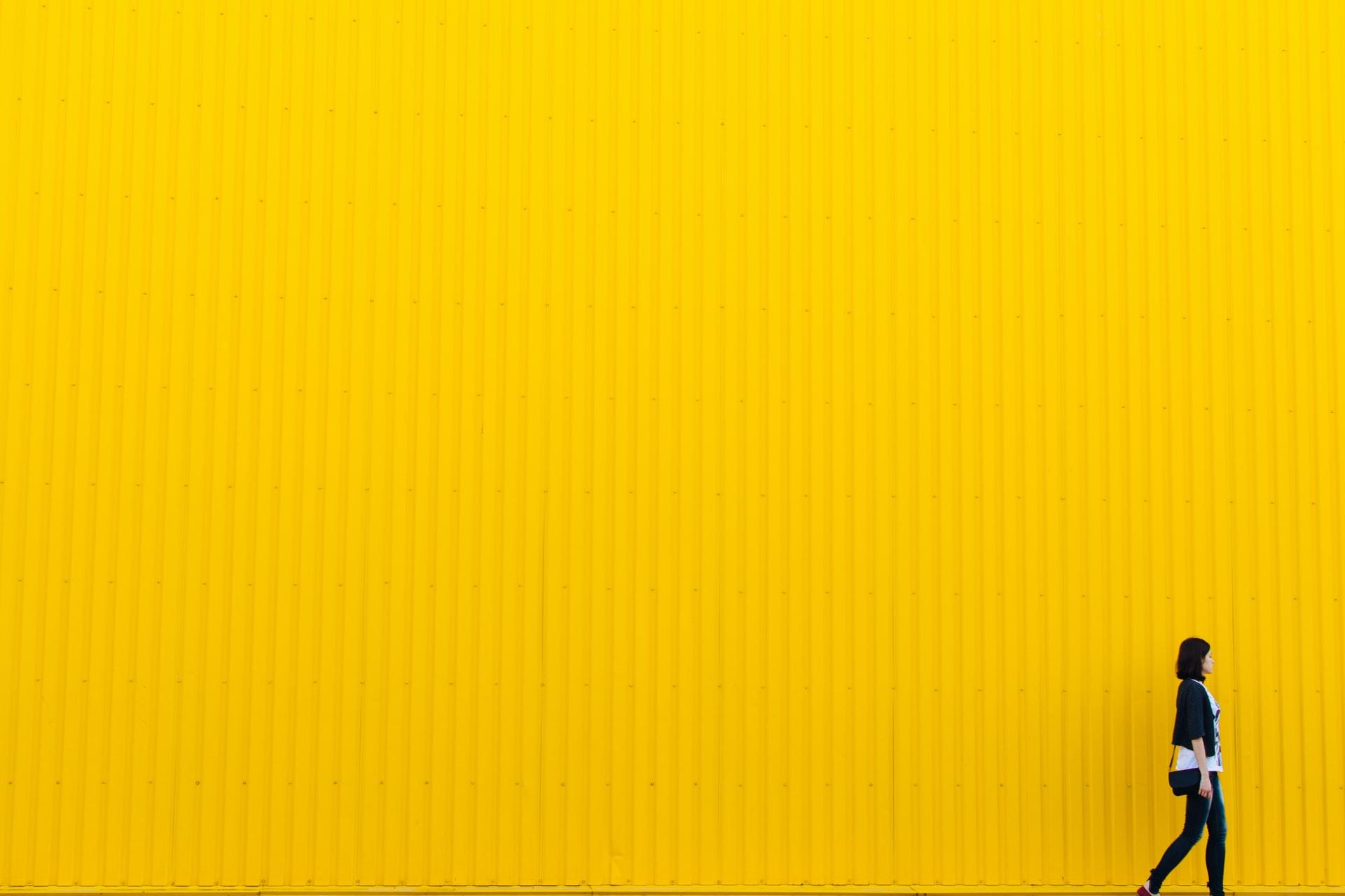 Girl walking yellow SQL