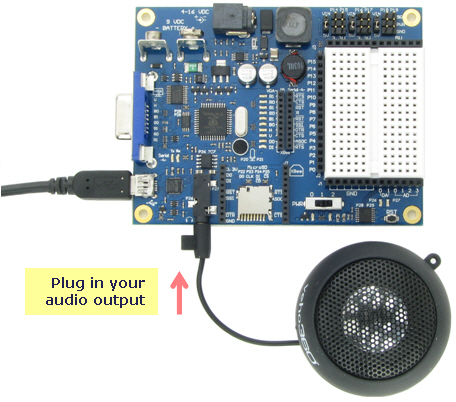 Connecting a Veho speaker to the Propeller Board of Education