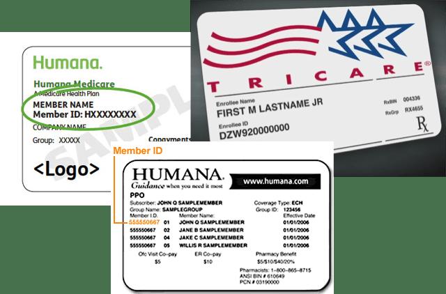 tricare insurance card sample