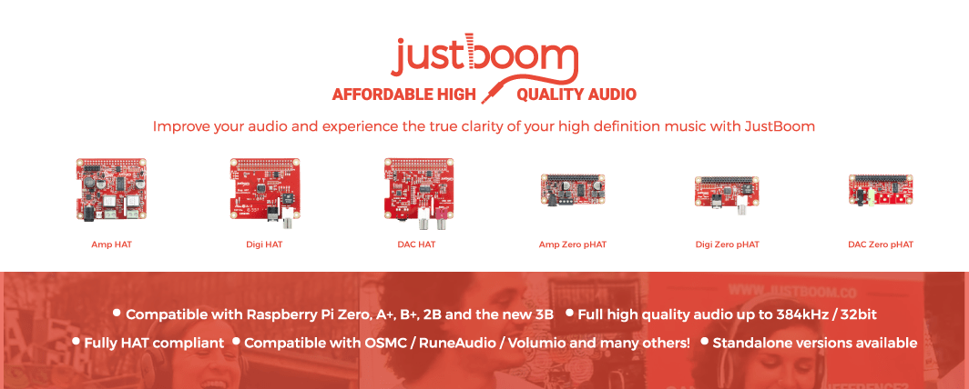 justboom raspberry pi audio boards