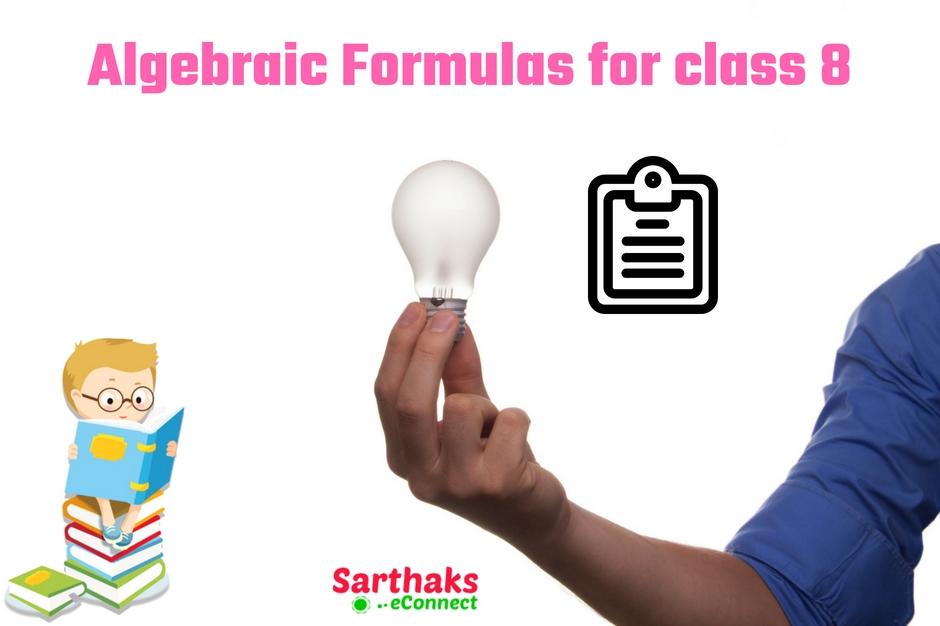 algebraic formulas for class 8
